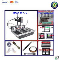 bga rework - Free ship Cheapest BGA rework station LY M770 Infrared BGA machine BGA reballing station PCB clamp solder balls stencils etc