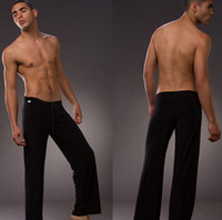Wholesale 1pcs mens sleep bottoms leisure sexy sleepwear for men Manview yoga long pants panties underwear pants