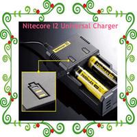 Wholesale Nitecore I2 Universal Charger For E Cigarette in Multi Function Intellicharger Luxury Design e cig Charger US UK EU AU PLUG Via DHL