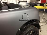Carbon Fiber Vinyl Film vinyl wrap - Metallic Matt Grey Gunmetal Gray Vinyl Car wrapping Film with air drain Car stickers Foile Wrapping Size m Roll