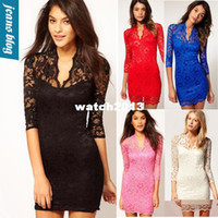 Work Sheath Mini Wholesale-new spring 2014 Sexy Flower Scalloped Women's casual lace dress women clothing summer sexy beach bandage dress women mgc 6121
