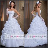 2016 Sexy New Strapless Organza A Line Wedding Dresses Detac...