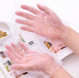 Wholesale Transparent Disposable Gloves for home cooking beauty New Disposable Plastic Glove Sanitary Restaurant Home BBQ Cook Kitchen Food Cl