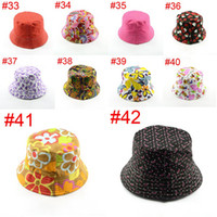 Girl Summer Visor Various baby bucket hat summer hat baby and girls beach sun shading caps lovely children's accessories photo props 1pc H391