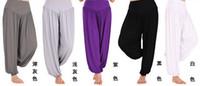 belly dance pants plus size - Plus Size M XXL Colors Women Lady dance Sport pants yoga pants Comfy Long Pants Belly Wide Trousers