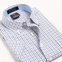 Wholesale Modal men s short sleeve oxford shirt summer influx of men s business casual plaid shirt short sleeved shirt