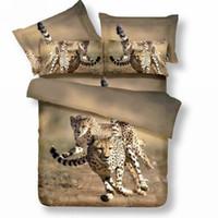 Woven Home Twill 3D Leopard brown khaki bedding set queen size comforter duvet cover bed linen sheet quilt bedcloth bedspread bedsheet 100%cotton