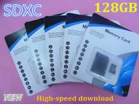 HOT 256GB 128GB 64GB Tarjetas de memoria de la clase 10 TF de la tarjeta de memoria 128 GB de la clase 10 SD con el adaptador libre del SD Paquete al por menor libre DHL