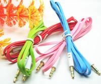 wholesale to the public - 3 Male to the public car audio line phone audio cable color flat line