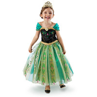 TuTu Summer TUTU COSPLAY Frozen Elsa Anna Girl's Costume dresses tulle Short sleeve baby girl dress princess girls party dress children kids girl ball gown