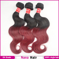 Brazilian Hair Body Wave yes Queen Hair Brazilian Virgin Hair 3 Bundles Ombre BG Human Hair Extensions Free Shipping DHL
