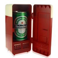 ML_EGS_018 beverage refrigerators - Retro Mini USB PC Fridge Beverage Refrigerator Drink USB Cooler Freezer and Warmer Gadget Heater EGS_018