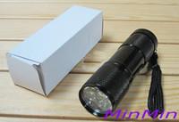 450lm LED Flashlight T6 clearance sale ! Black MINI 9 LED Ultra Violet UV Blacklight Portable LED Flashlight Torch Light Lamp CSI 395-400nm