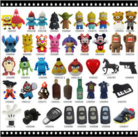 Wholesale Fashion mix cartoon Shape real capacity GB GB GB GB GB USB Flash Drives thumb pendrive memory stick u disk usb drive