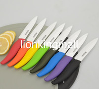 Wholesale BESTLEAD Eco friendly quot Ceramic Knife Cutter Chefs Cutlery for Modern Kitchen Fruits Red Orange Yellow Green Black Blue Purple Cyan