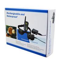 оптовых водонепроницаемый ошейники-Аккумуляторная и водонепроницаемый удаленного обучения собаки ошейник 998DR 1 ошейник с ЖК-экраном 100 уровень ударов и вибрации