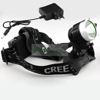 Wholesale 2014 Ultra Bright Lumens CREE XM L T6 LED HeadLight Rechargeable Headlamp Bike Bicycle Light Charger flashlight