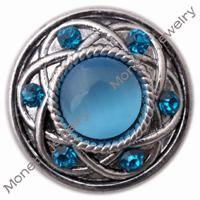 Wholesale D00401 newest design noosa snap button rhinestone jewelry for girls
