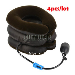 Wholesale 4pcs High quality New Neck Cervical Traction Brace Device For Head Shoulder Pain dropshipping
