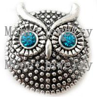 asian jewellery designs - D00209 newest design lovely owl metal chunk noosa button jewellery
