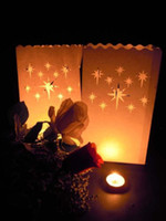 Lantern bbq decoration - 20pcs X Stars style DIY manual paper Lantern Candle Bags For Xmas BBQ Party Wedding decoration supplies