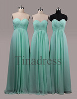 Wholesale In Stock Special Occasion Prom Dresses Cheap Sheath Column Sweetheart Floor Length Draped Chiffon Bridesmaid Dresses