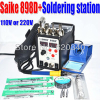 100-480 898d+ Guangdong, China (Mainland) Wholesale - Free shipping 110V or 220V Saike 898D+ , the upgrade version of 898D,hot air gun,rework station,soldering station Send gift