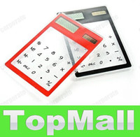 Wholesale JJ623 ultrathin solar transparent calculator new exotic products retailer droppi