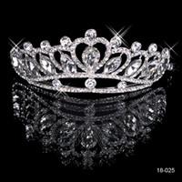 Tiaras&Crowns bridal hair ornament - Silver Cheap Jewelry Crystal Tiaras Crowns Bridal Hair Ornaments Accessories for Women Girls Wedding Party Prom Fashion