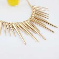 Wholesale New Punk Style Hot Sale Fashion Style Alloy Spike Collar Necklace