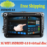 Wholesale virtual disc hd video new quot android VW Skoda Golf Jetta din car pc wifi g dvd player gps Front amp back parking sensor