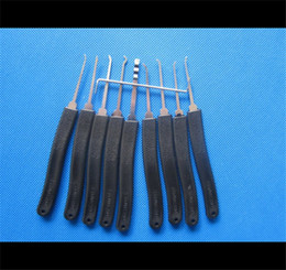 Wholesale 11Piece Pick lock tool Advanced Pieces Set Lock Picks LOCKSMITH TOOL door lock opener padlock tool lock pick gun S035