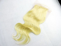 Brazilian Hair 613 Body Wave blonde color 613 lace closure free part hair closure brazilian hair gold girl products best qulaity lace top closure