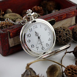 New hot sale fashion jewelry silver color pocket watches pendent necklace