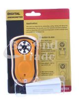Wholesale Best LCD Tester Digital Air Flow Wind Speed Meter Gauge Anemometer Weather Airflow Tester pc