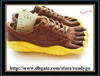Wholesale Woman Five Fingers Sports Shoe Women s Five Toe Casual Sneakers Outdoor Walking Hiking Running Shoes Lace up Footwear Carve Pattern Coffee