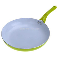 Wholesale and Retail Smoke free Green Ceramic Coated Frying Pan Kitchen Cookware