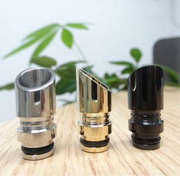 Wholesale Hot Selling Muffler Drip Tips Omega Black Drip Tip Atomizer Mouthpieces Blade Drip Tip For eGo C eGO T EVOD eGo VV Electronic Cigarette