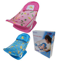 Wholesale infant Baby quality folding slip resistant Wash Chair with Soft Mesh Bather bath rack baby shower chair
