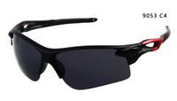 Wholesale FREE CHINA POST AIR Men s Sunglasses Matte Blcak Acrylic Dark Grey Lens Classic Brand Sunglass Cyclist Sunglasses Size M