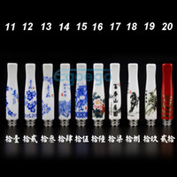 Wholesale Chinese feel drip tips Ceramic drip tip stainless steel drip tips Mouthpieces for eGO CE4 CE5 Vivi nova DCT Atomizer E Cigarette