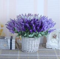lavender silk - 35CM length WHITE PURPLE ARTIFICIAL LAVENDER FLOWER bunch SILK flower bouquet wedding decorative flower hand made