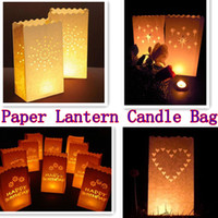 Bon Marché Lantern-1200pcs / lots papier manuel décoration <b>Lantern</b> Livre blanc thé Candle Light parti Sacs boîte de mariage du Festival de fournitures de bricolage