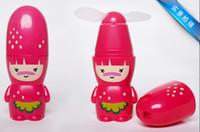 Wholesale hot selling summer fruit mini fan cartoon battery small portable fan halter neck hand fan