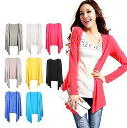Wholesale Long sleeved shirt Slim Korean female sunscreen sunscreen clothing bamboo cotton shawl cardigan sweater air conditioning manufacturers whol