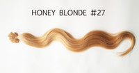 Cheap Indian Hair HUMAN HAIR EXTENSIONS Best Honey Blonde  #27 Body Wave U TIPS