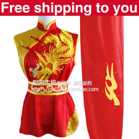 Wholesale Customize Chinese wushu uniform clothing Kung fu suit Martial arts embroidery phoenix embroidery women little girl child boy