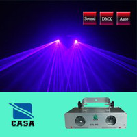 Microphones Guangdong China (Mainland) CASA 2 Lens 100+100mW Violet Laser Light Show PRO edtion DMX Sound Auto Disco DJ Party Club Lights (CTL-DC)