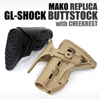 Wholesale FAB Defense GL SHOCK Shock Absorbing Collapsible Butt Stock w Adjustable Cheek Rest BK DE GRN