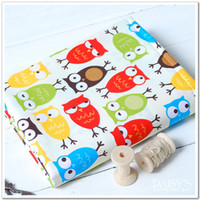 Wholesale 160cm colorful owl cotton patchwork fabric bedding home textile for sewing Meters